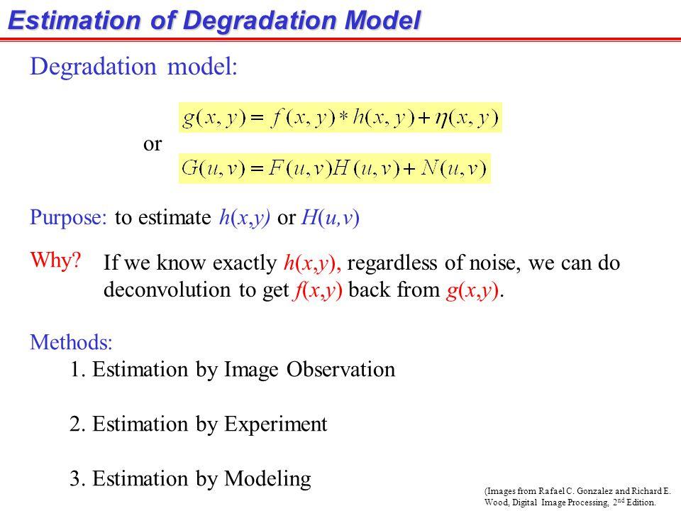 Estimation of Degradation Model