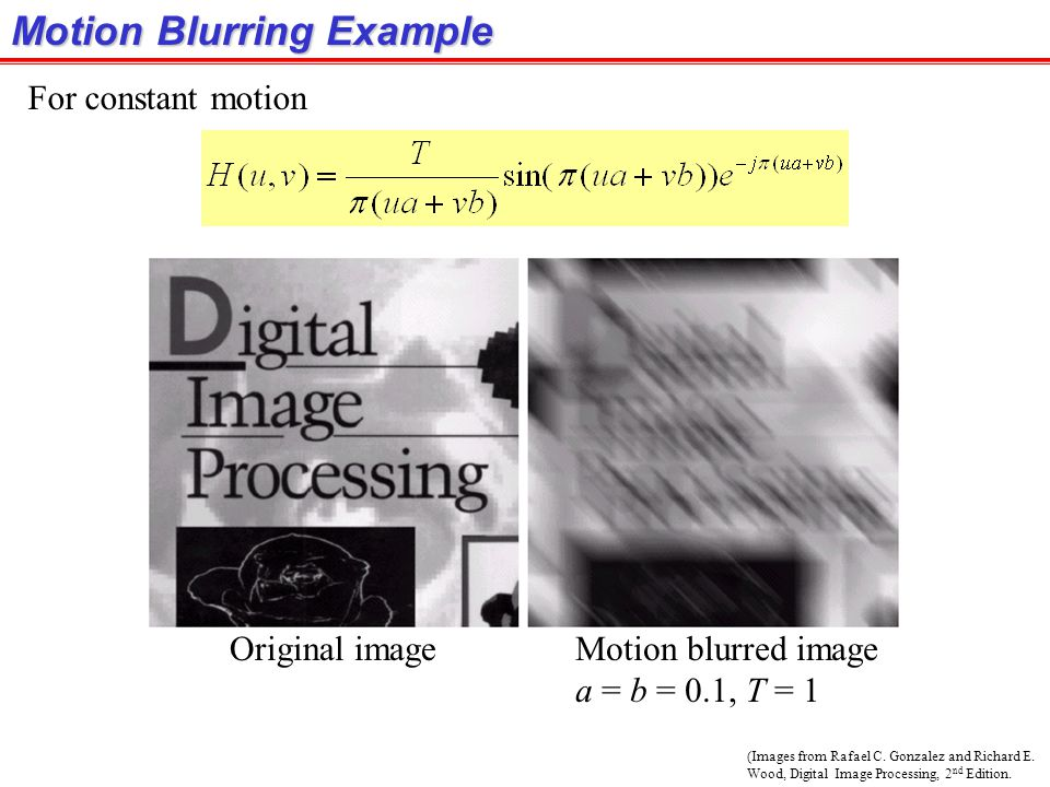 Motion Blurring Example