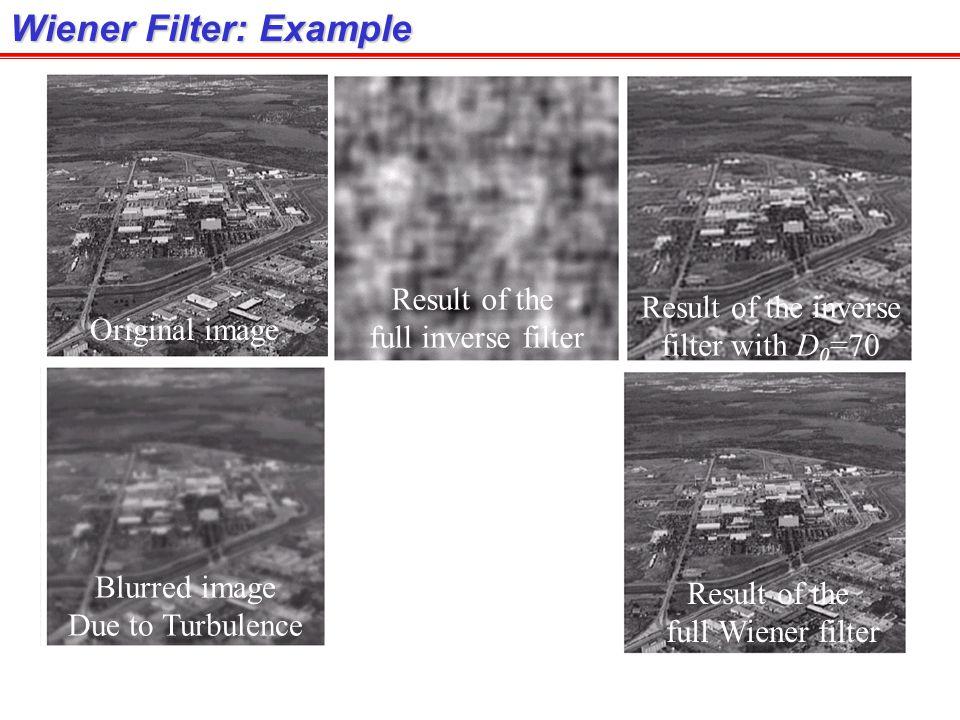 Wiener Filter: Example
