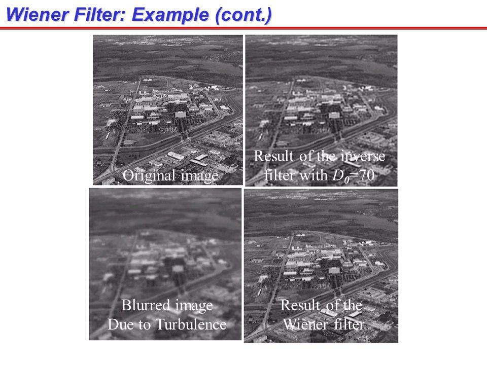 Wiener Filter: Example (cont.)