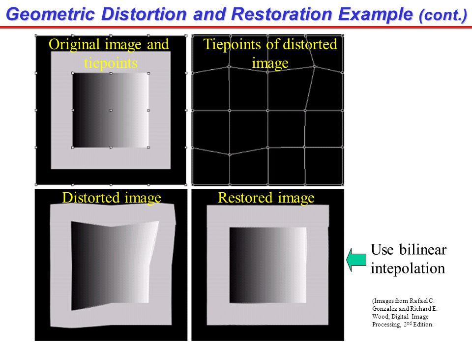Tiepoints of distorted