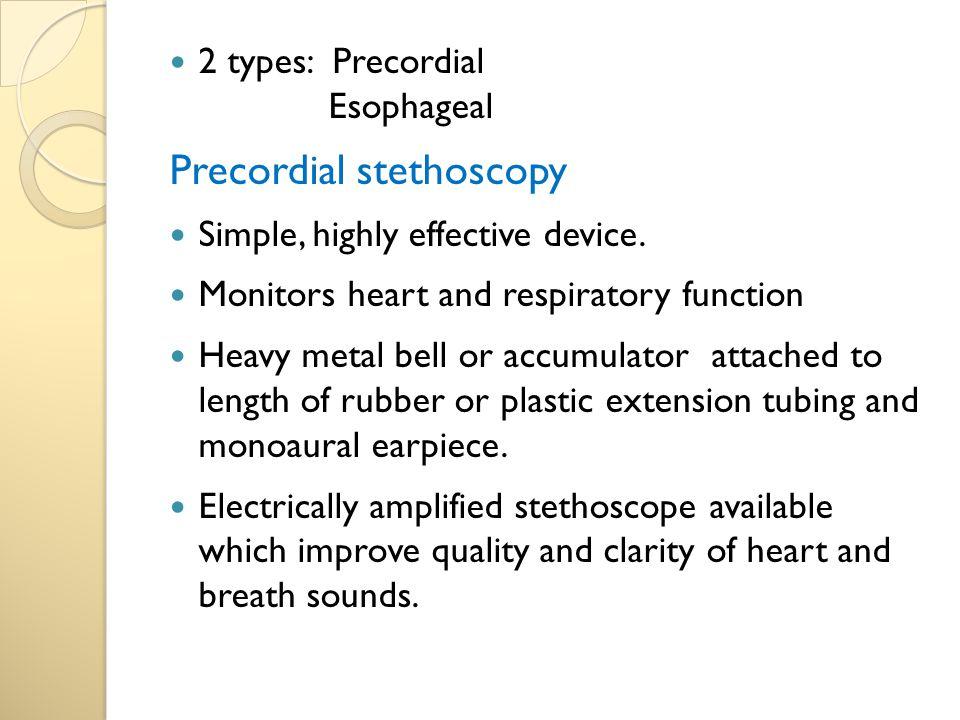 Precordial stethoscopy