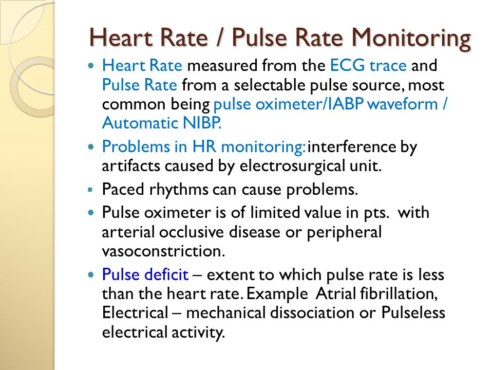 Heart Rate / Pulse Rate Monitoring