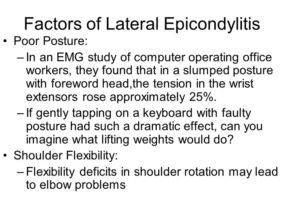 Factors of Lateral Epicondylitis