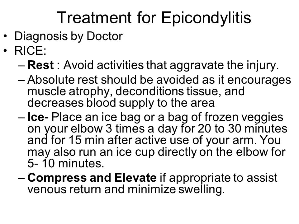 Treatment for Epicondylitis