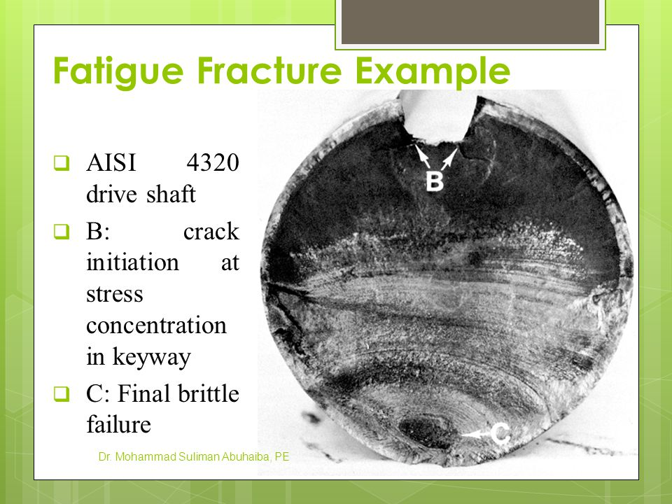 Fatigue Fracture Example