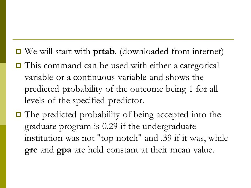 We will start with prtab. (downloaded from internet)