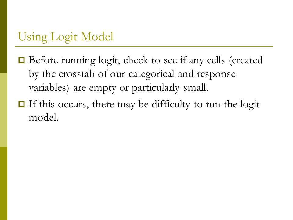 Using Logit Model