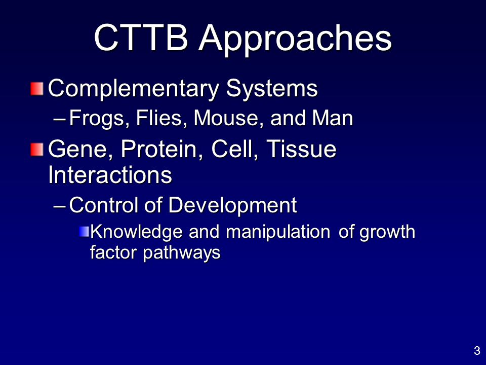 CTTB Approaches Complementary Systems