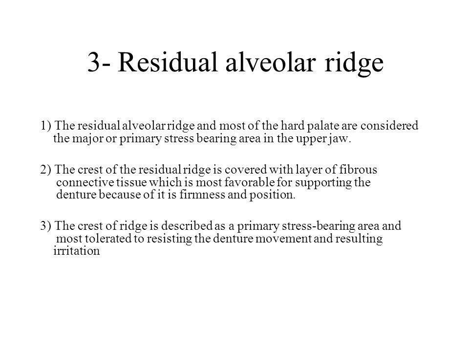 3- Residual alveolar ridge