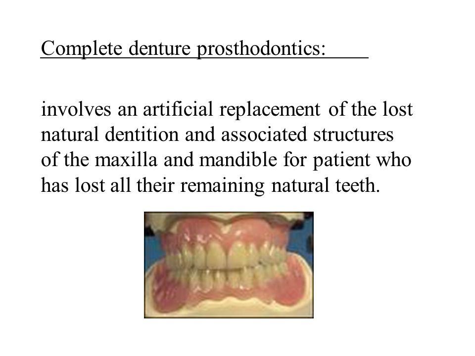 Complete denture prosthodontics: