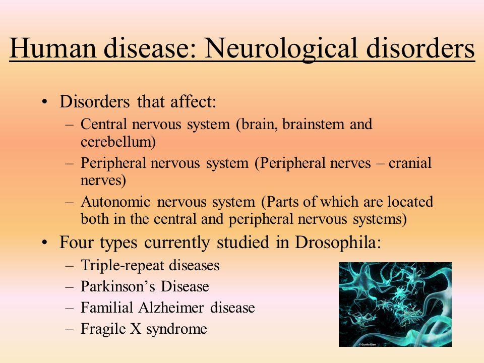 Human disease: Neurological disorders
