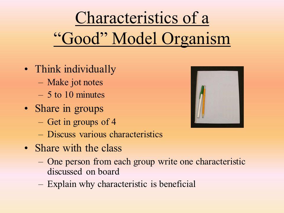 Characteristics of a Good Model Organism