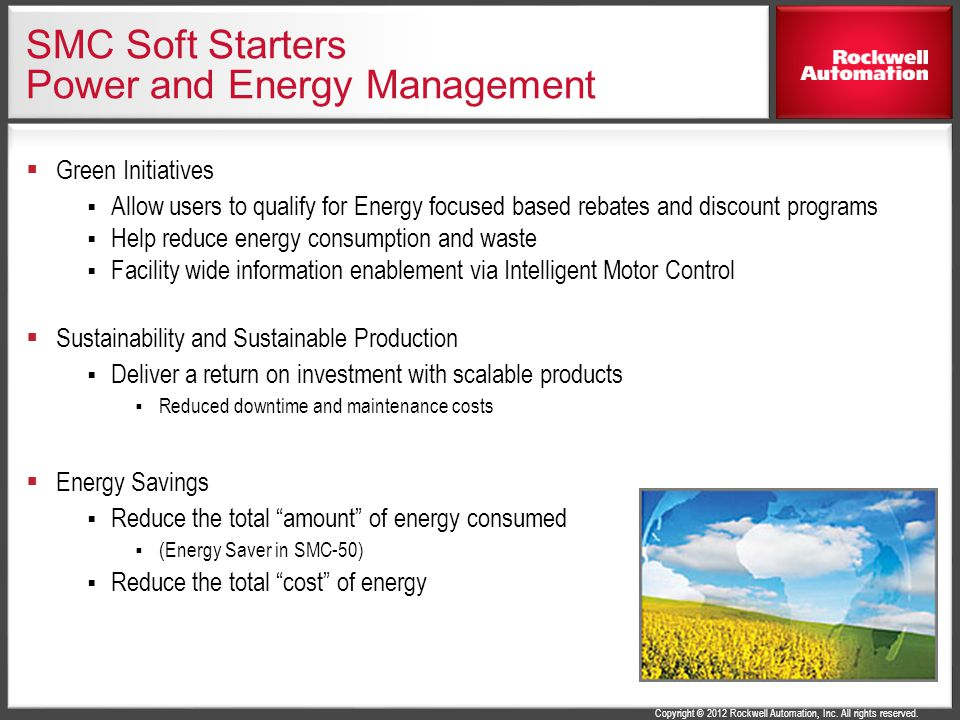 SMC Soft Starters Power and Energy Management