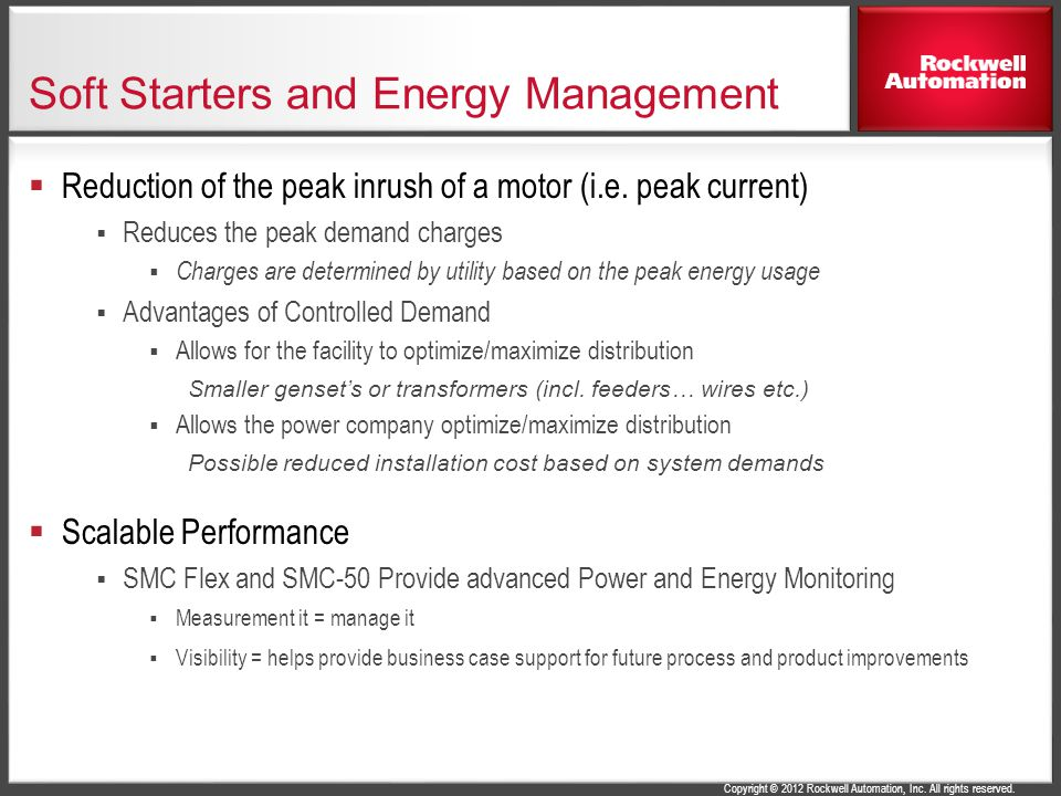 Soft Starters and Energy Management