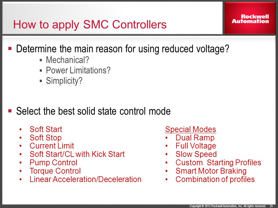 How to apply SMC Controllers