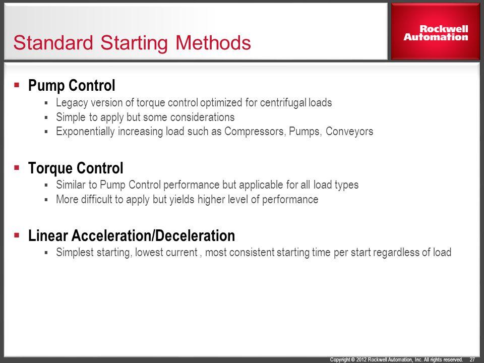 Standard Starting Methods