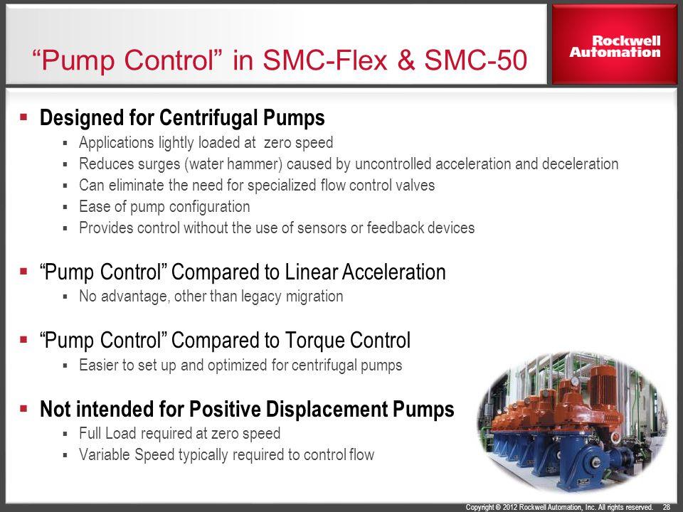 Pump Control in SMC-Flex & SMC-50