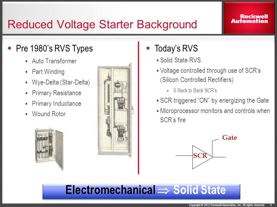 Reduced Voltage Starter Background