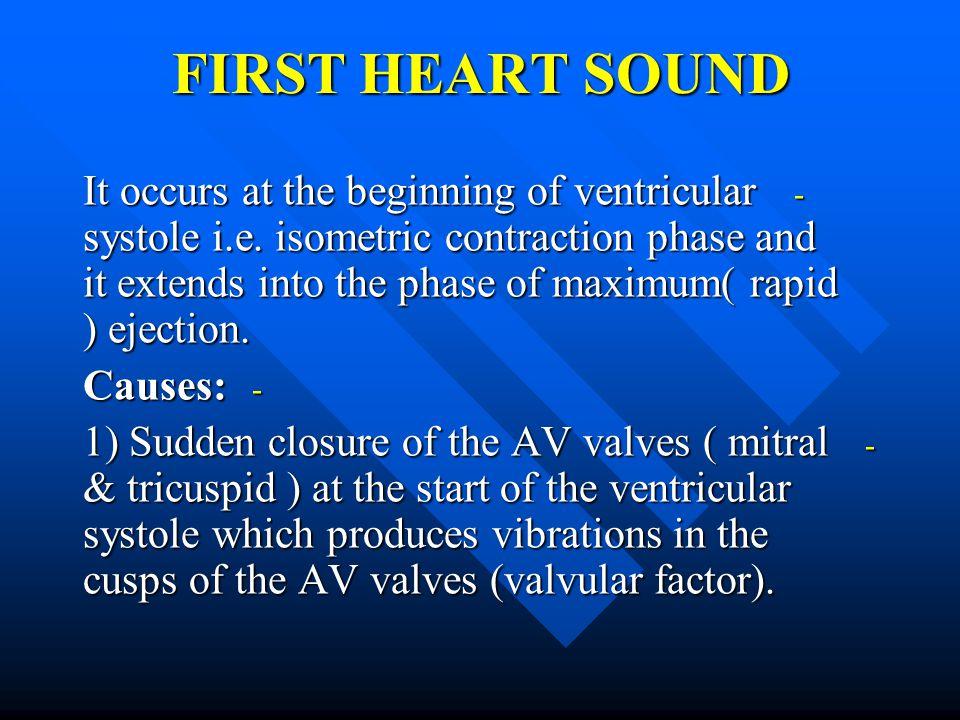 FIRST HEART SOUND