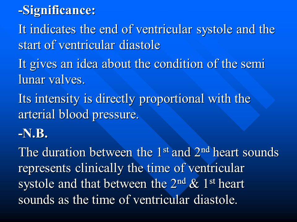 -Significance: It indicates the end of ventricular systole and the start of ventricular diastole.