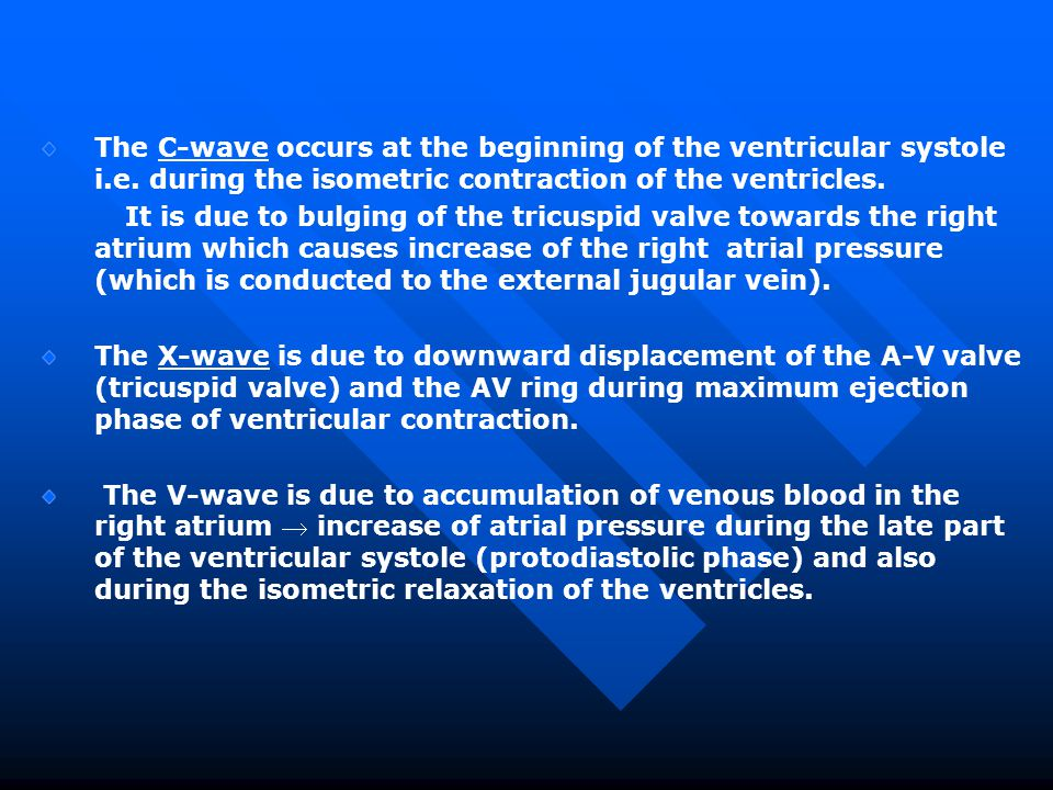 The C-wave occurs at the beginning of the ventricular systole i. e