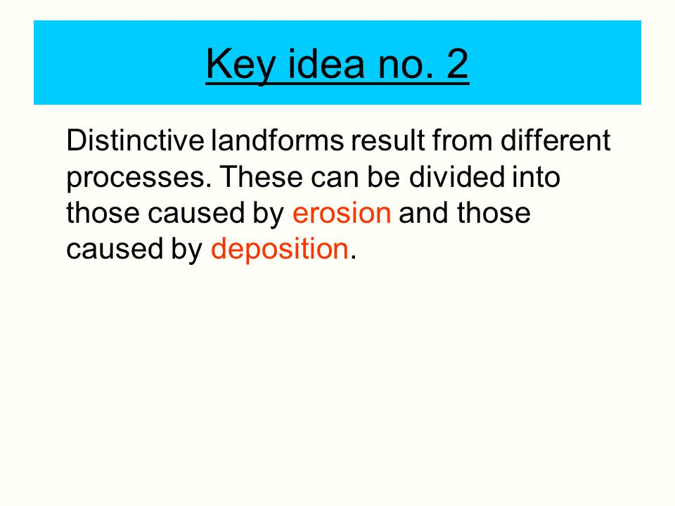 Key idea no. 2