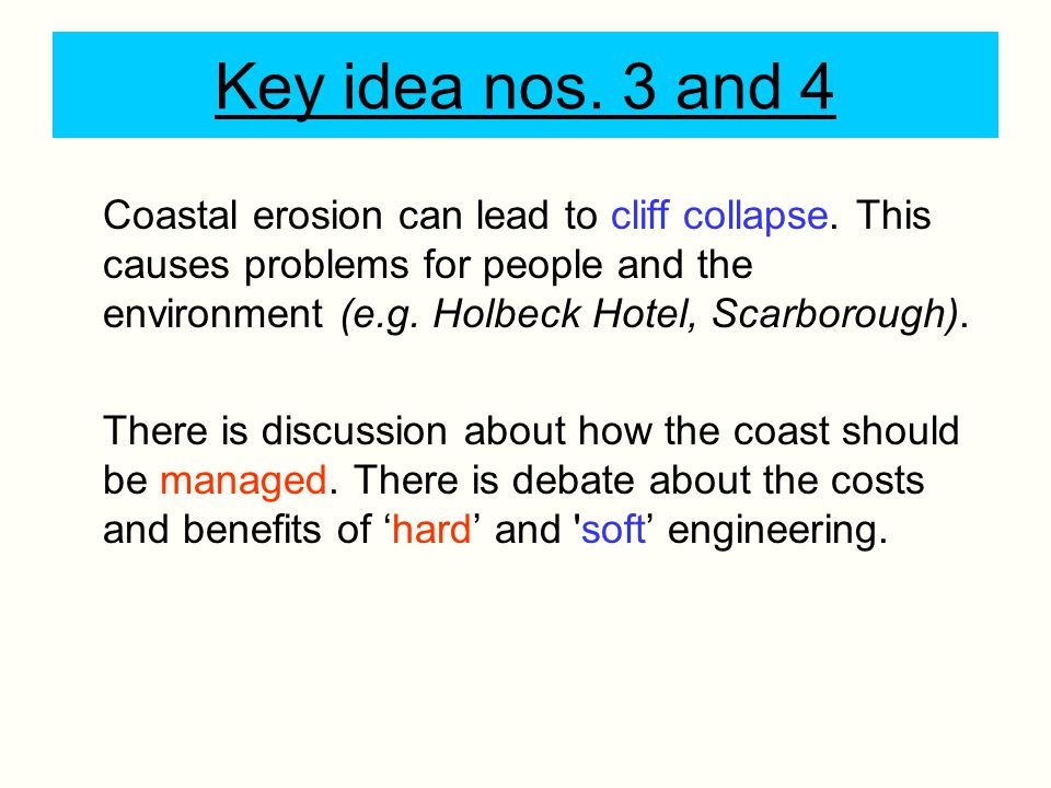 Key idea nos. 3 and 4