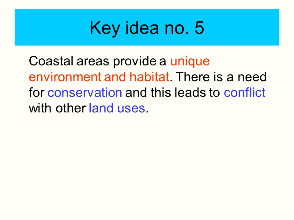 Key idea no. 5