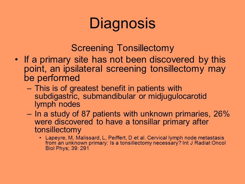 Screening Tonsillectomy