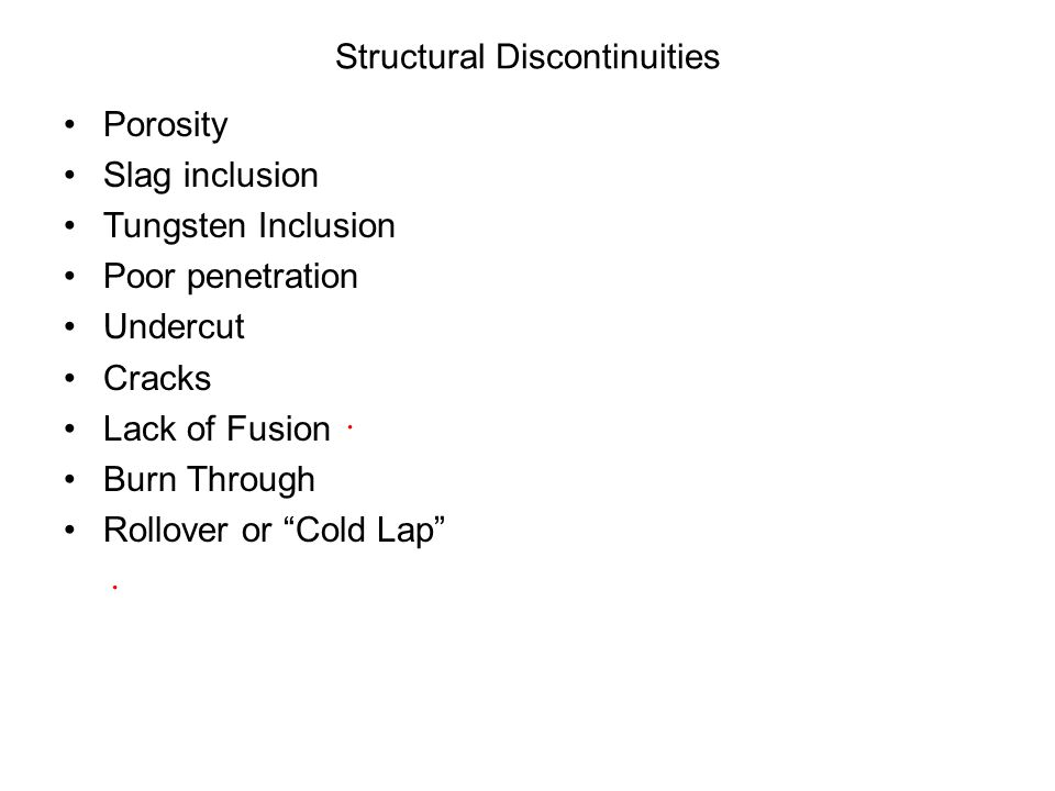 Structural Discontinuities