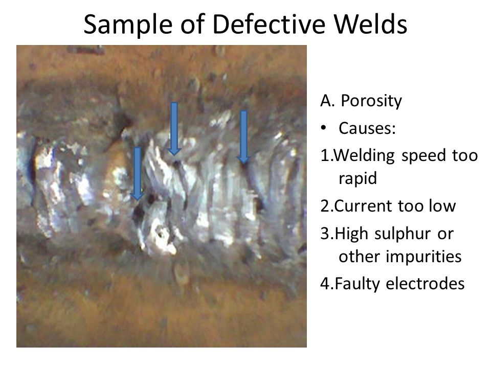 Sample of Defective Welds