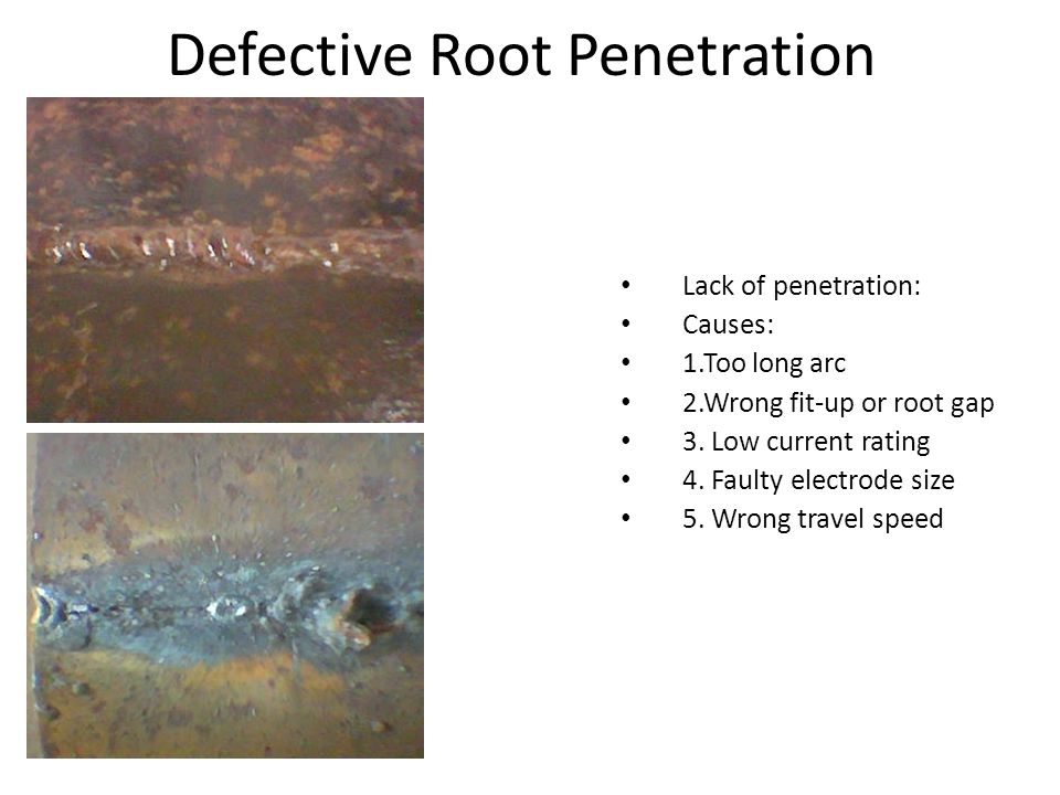Defective Root Penetration