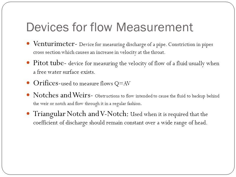 Devices for flow Measurement