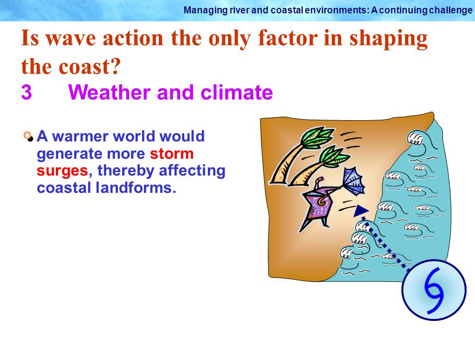 Is wave action the only factor in shaping the coast