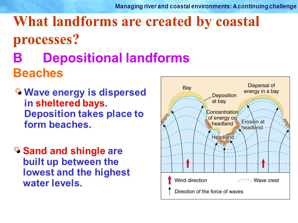 What landforms are created by coastal processes