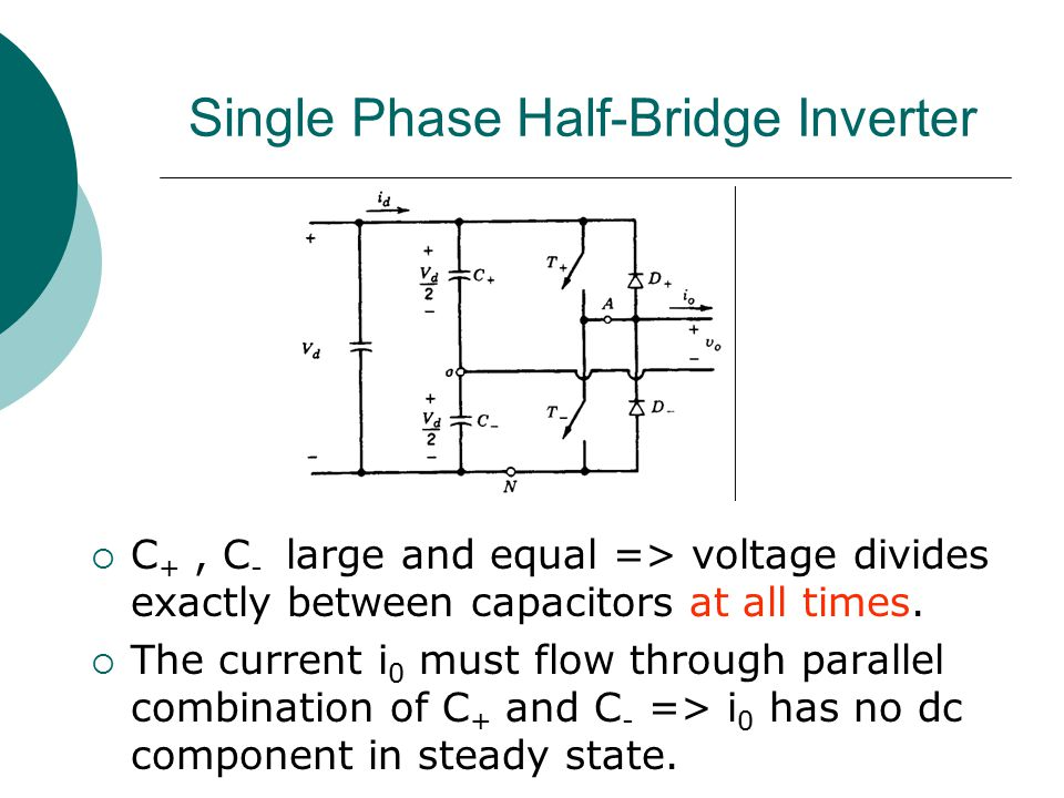 Single Phase Half-Bridge Inverter