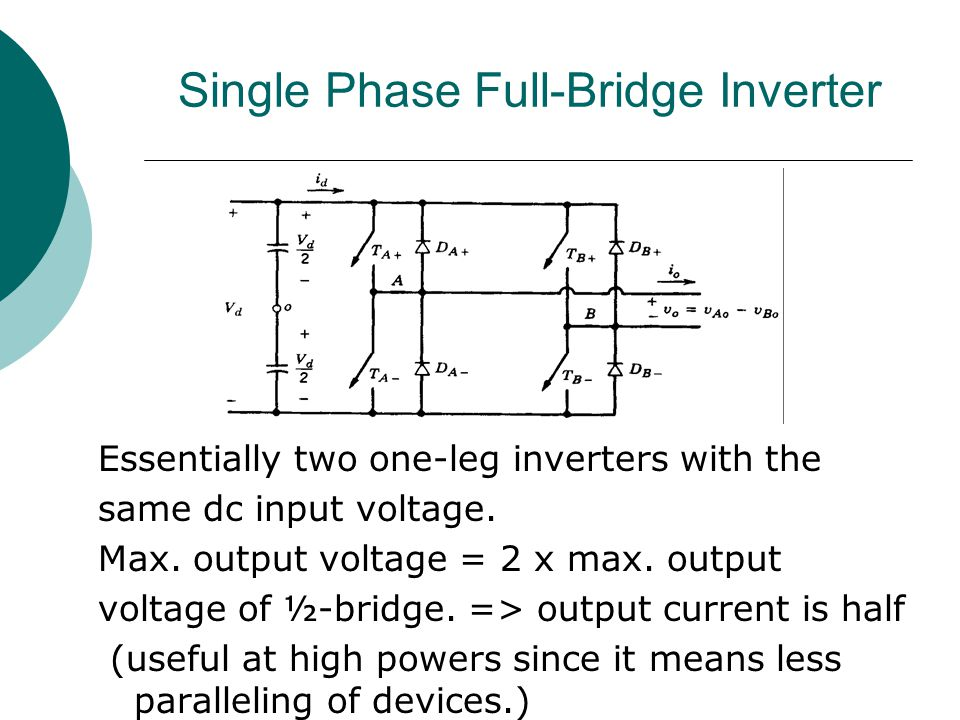 Single Phase Full-Bridge Inverter