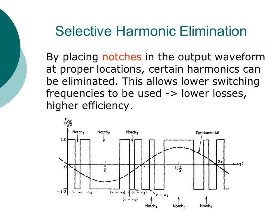 Selective Harmonic Elimination