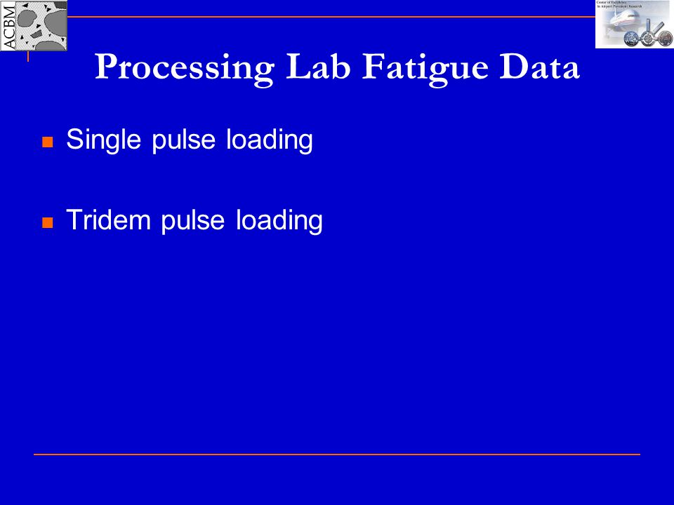 Processing Lab Fatigue Data