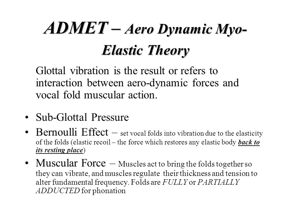 ADMET – Aero Dynamic Myo-Elastic Theory