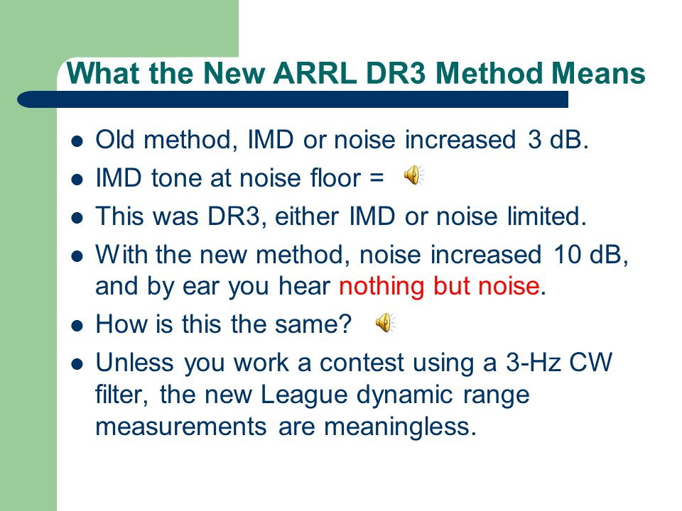 What the New ARRL DR3 Method Means
