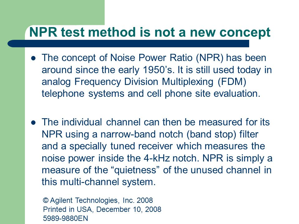 NPR test method is not a new concept