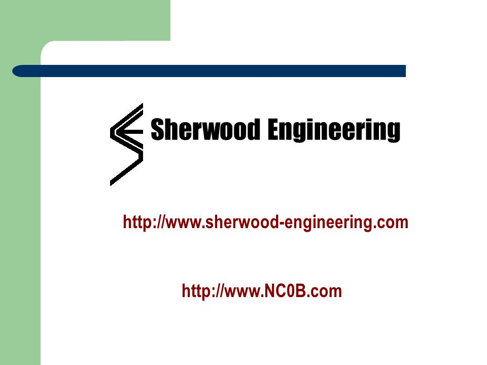 Sherwood Engineering http://www.sherwood-engineering.com