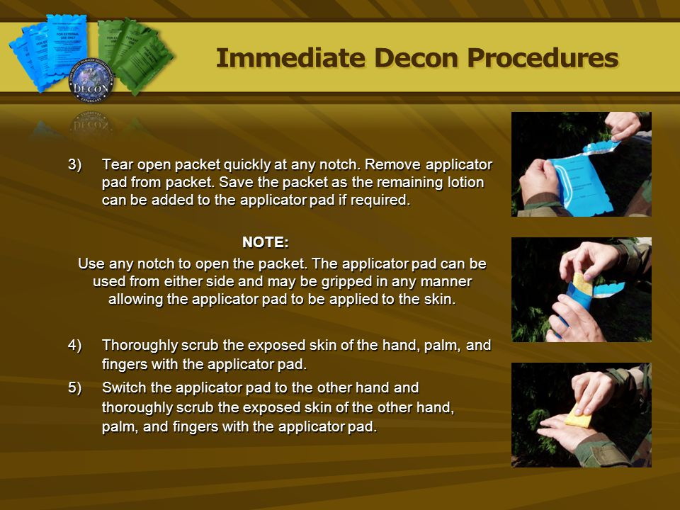 Immediate Decon Procedures