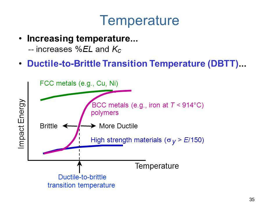 Temperature • Increasing temperature...