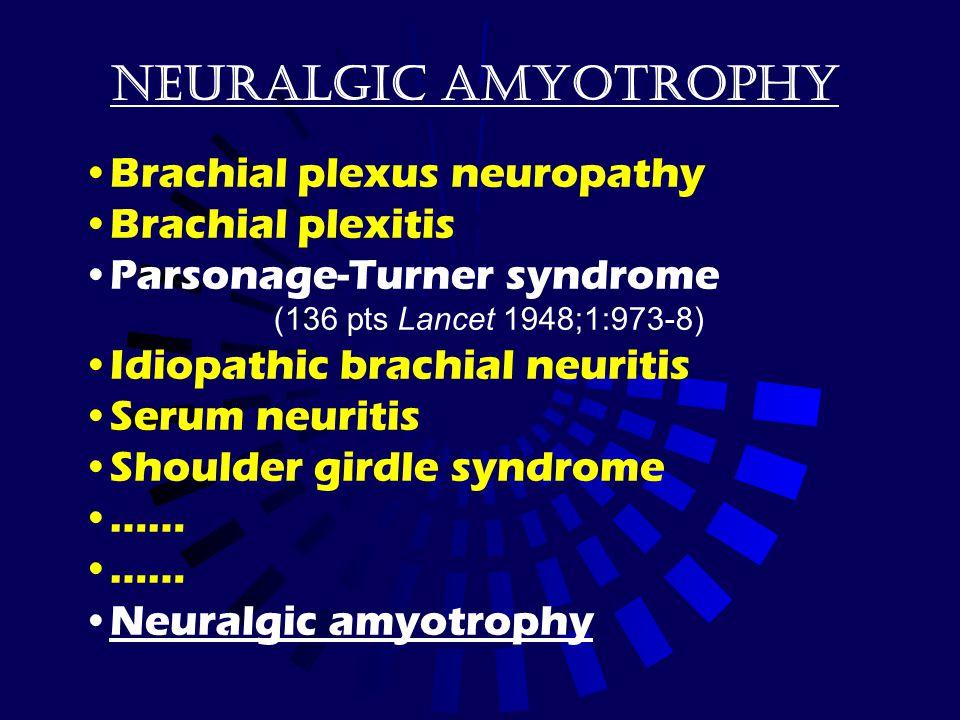 Neuralgic amyotrophy Brachial plexus neuropathy Brachial plexitis