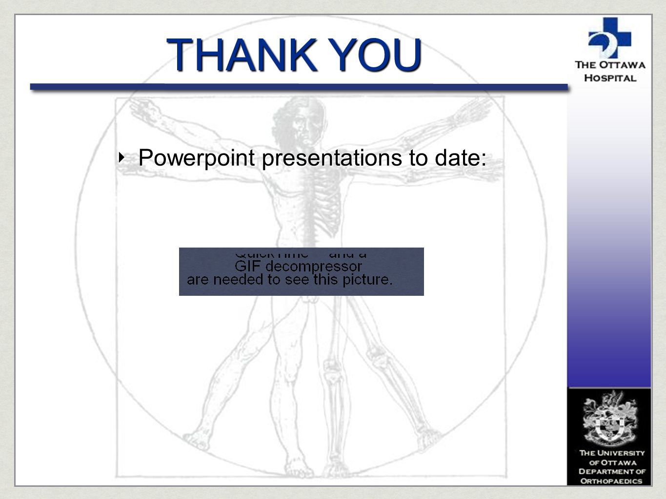 Powerpoint presentations to date: