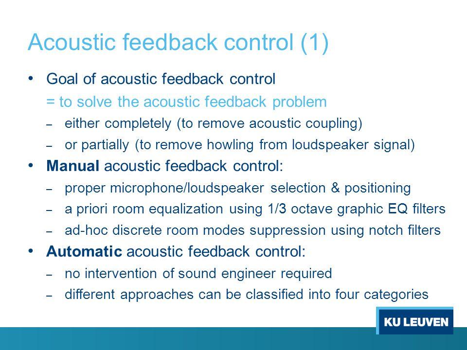 Acoustic feedback control (1)