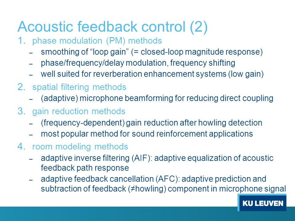 Acoustic feedback control (2)